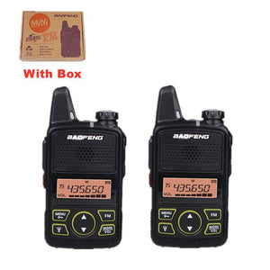 Baofeng BF-T1 Mini Walkie Talkie UHF Handheld Two-way Radio bft1 Ham Radio Portable FM Transceiver Kids 5km CB Radio Intercom