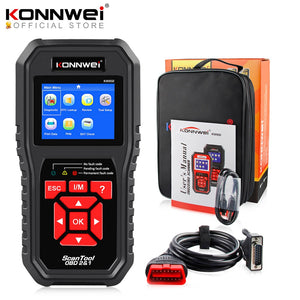 KONNWEI KW850 OBD2 Auto Diagnostic Scanner Tools OBD 2 Vehicle Diagnostic Tool Check Engine Automotive Scanner Code Reader Black