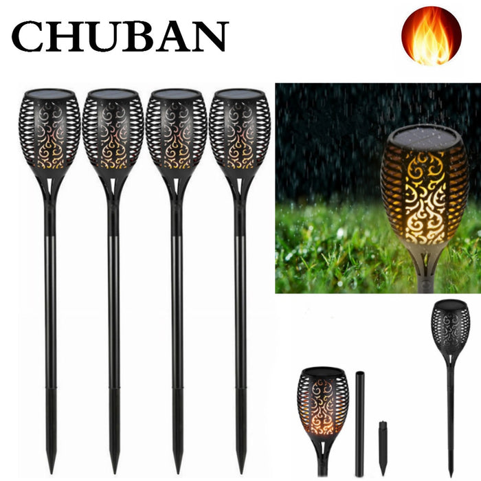 CHUBAN LED Solar Flame Lights Outdoor IP65 Waterproof Solar Light Flickering Flame Torches Lamp for Courtyard Garden Solar Lamp