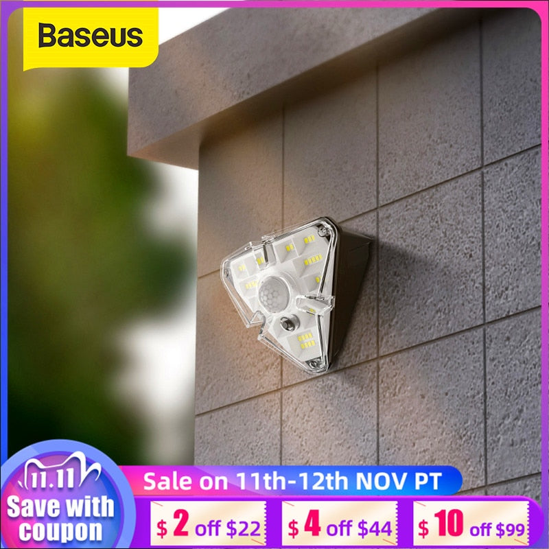 Baseus LED Solar Light Outdoor Solar Wall Lamp Waterproof Solar Garden Light PIR Motion Sensor Street Light For Garden Balcony