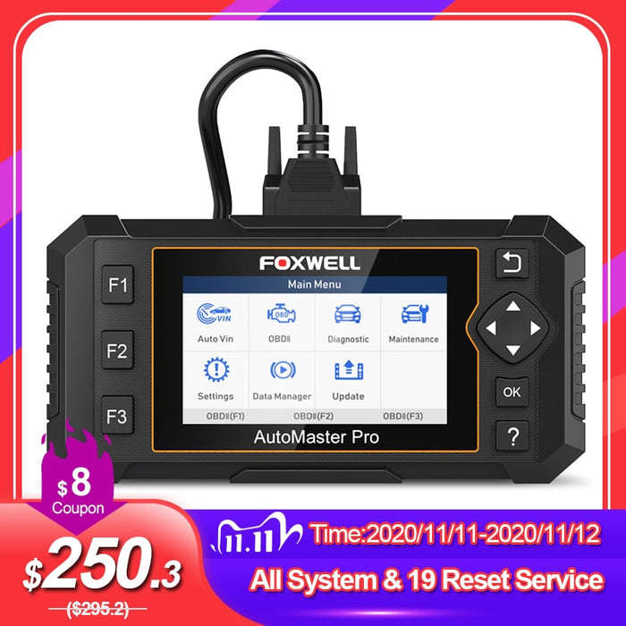 Foxwell NT644 Elite Professional OBD 2 Diagnostic Car Scanner Tool Full System Scan 19 Reset Service OBD2 Automotive Scanner