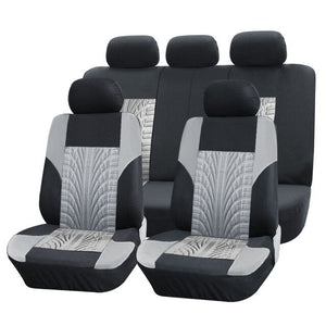 Polyester car seat cover universal Automotive interior Fit for most cars wheel print pattern seat cover For Toyota KIA Mazda BMW