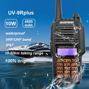 Professional Walkie Talkie Waterproof Baofeng UV-9R PLUS 10W Portable CB Ham Radio FM Transceiver VHF UHF UV9R 10-50km uv9r plus