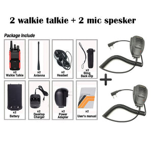 2PCS New Original Baofeng 999S Walkie Talkie 5W 1800mAh UHF16 CH Long Distance Portable BF-999S Plus 999S CB Radio