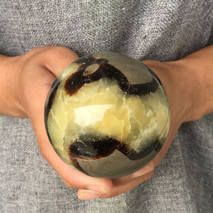 natural dragon septarian sphere quartz crystal ball rieki healing