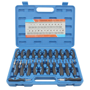 23Pcs/Set Universal Automotive Terminal Release Removal Tool Kit Car Electrical Wiring Crimp Connector Pin Extractor Kit
