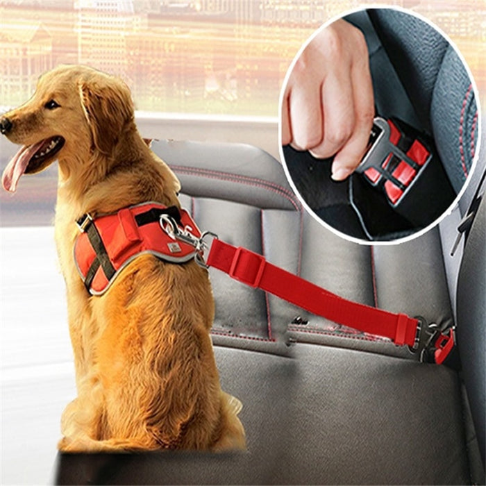 Automotive Pet Dog Seat Belt Puppy Vehicle Seatbelt Harness Pet Safety Lead Clip Pet Dog Collars Supplies Safety Lever Auto Traction Gadgets