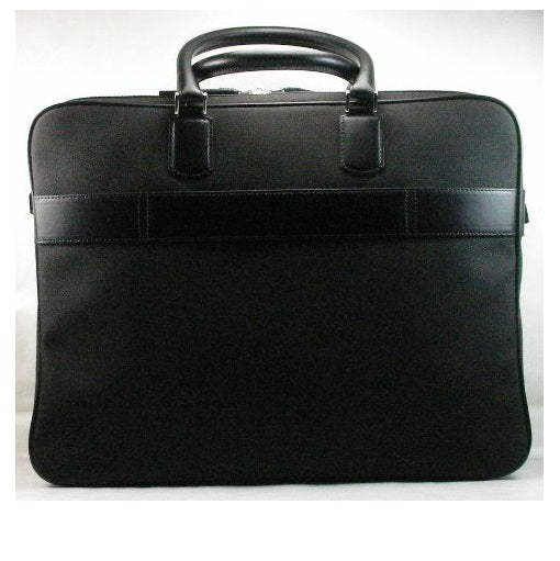 MONTBLANC - Borsa Meisterstuck Black Canvas Laptop Case - 106725