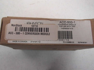 Johnson Controls ACC-500-1 CONVERSION MODULE USE WITH T500 THERMOSTATS