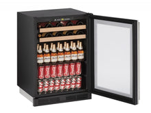 "Load image into Gallery viewer, U-Line Built-in Beverage Center, 24"", Stainless Steel U1224BEVS00A"