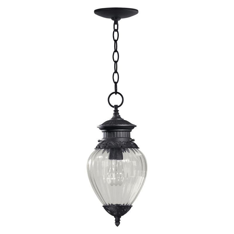 Quorum International 7905-1-93 Charcoal Single Light Outdoor Pendant from the Bonfils Collection