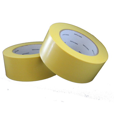 Yellow Poly Tape w/Pinked Edges, 48mm x 55m, 7.5 MIL (24) Rolls per Case A62880