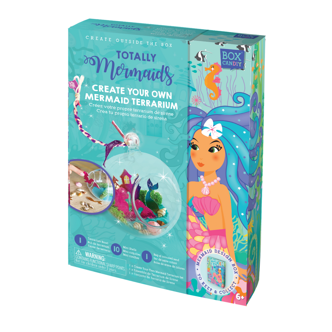 BOX CANDIY® Totally Mermaids Create Your Own Mermaid Terrarium