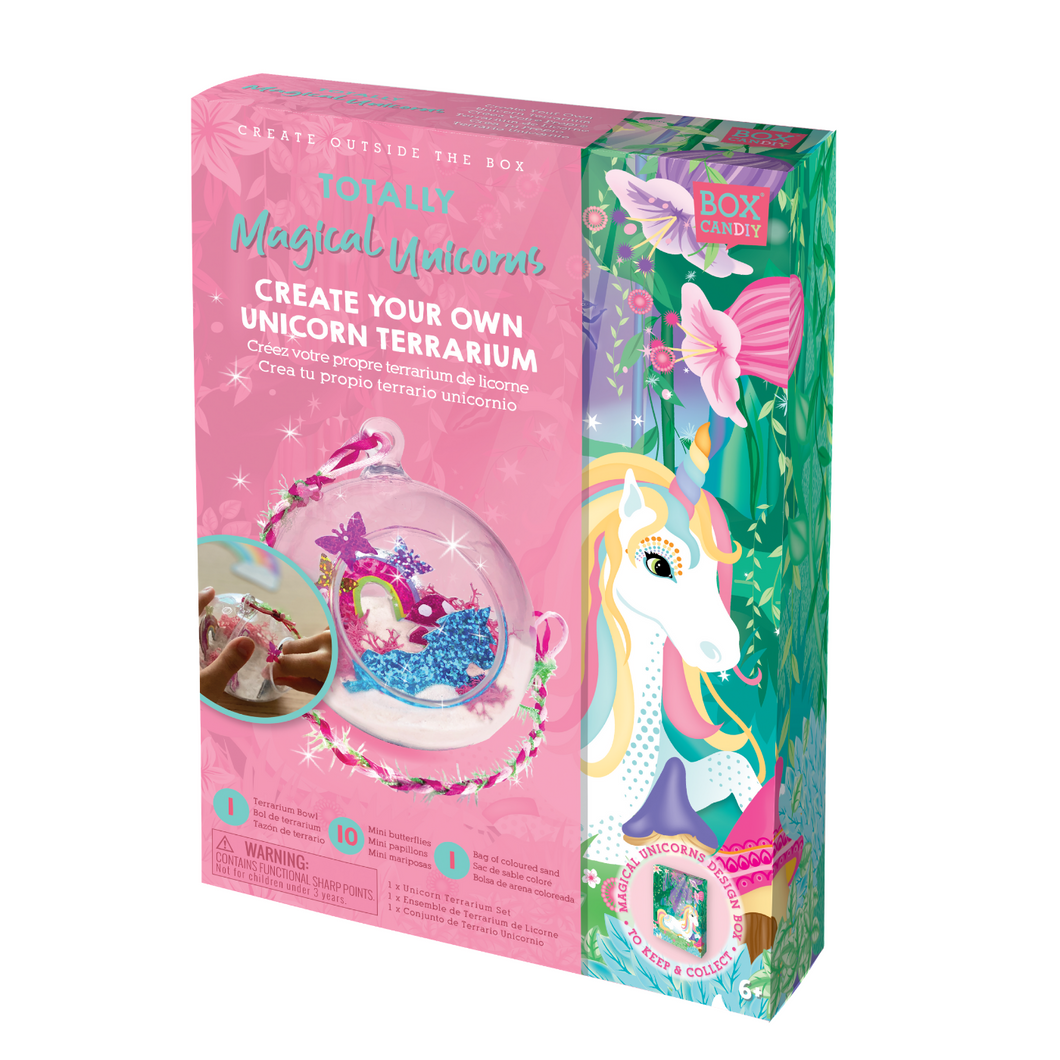 BOX CANDIY® Totally Magical Unicorns Create Your Own Unicorn Terrarium