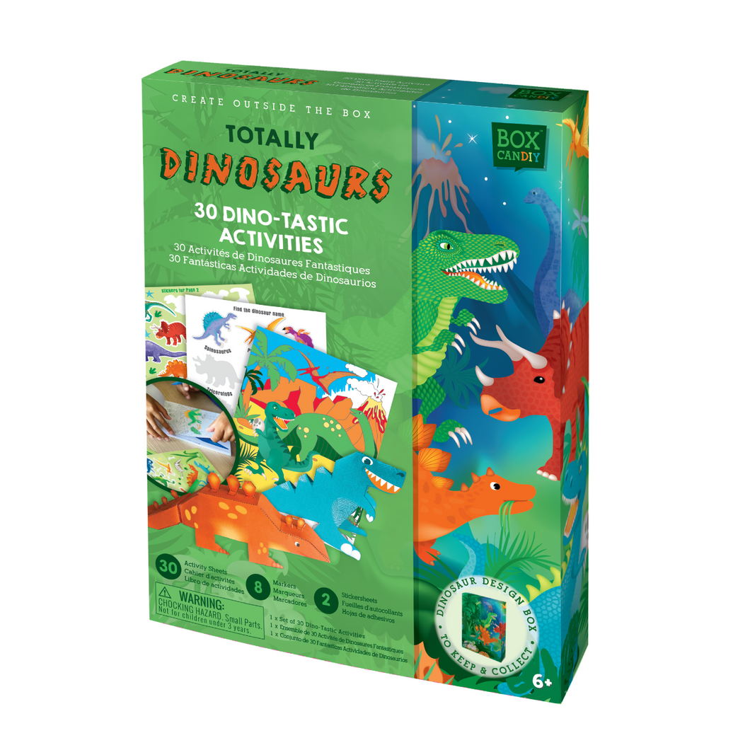 BOX CANDIY® Totally Dinosaurs 30 Dino-tastic Activities
