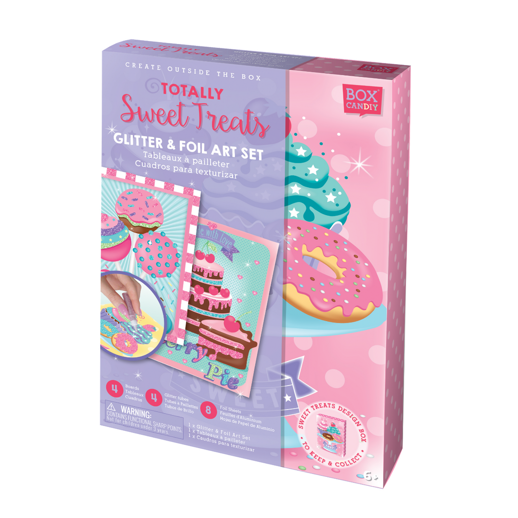 BOX CANDIY® Totally Sweet Treats Glitter & Foil Art Set