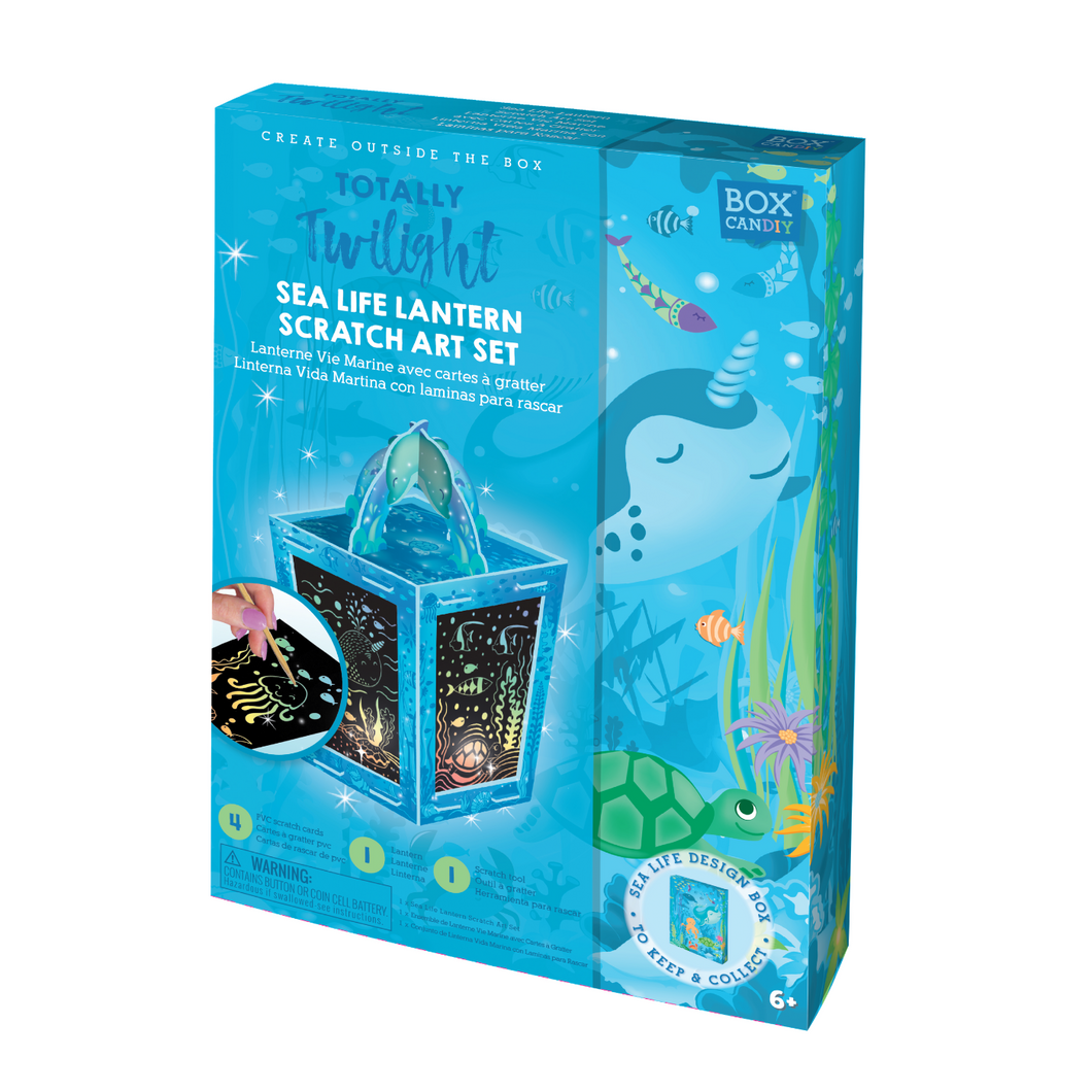 BOX CANDIY® Totally Twilight Sea Life Lantern Scratch Art Set