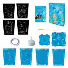 Load image into Gallery viewer, BOX CANDIY® Totally Twilight Sea Life Lantern Scratch Art Set