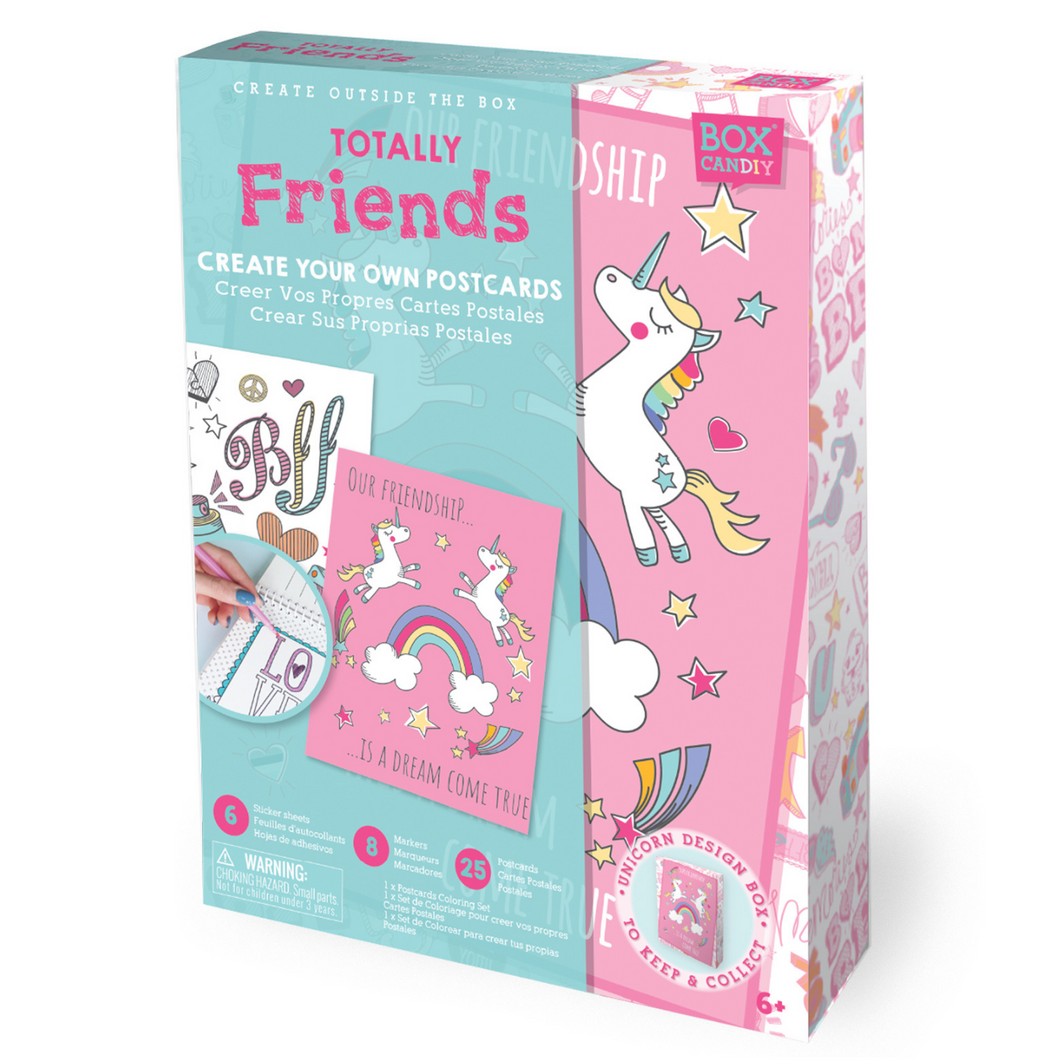 BOX CANDIY® Totally Friends! Create Your Own Postcards