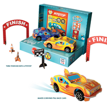 Load image into Gallery viewer, BOX CANDIY® Totally Race Cars Build Your Own Pull-Back Cars