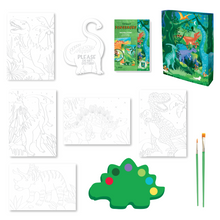 Load image into Gallery viewer, BOX CANDIY® Totally Dinosaurs Watercolor Art Set