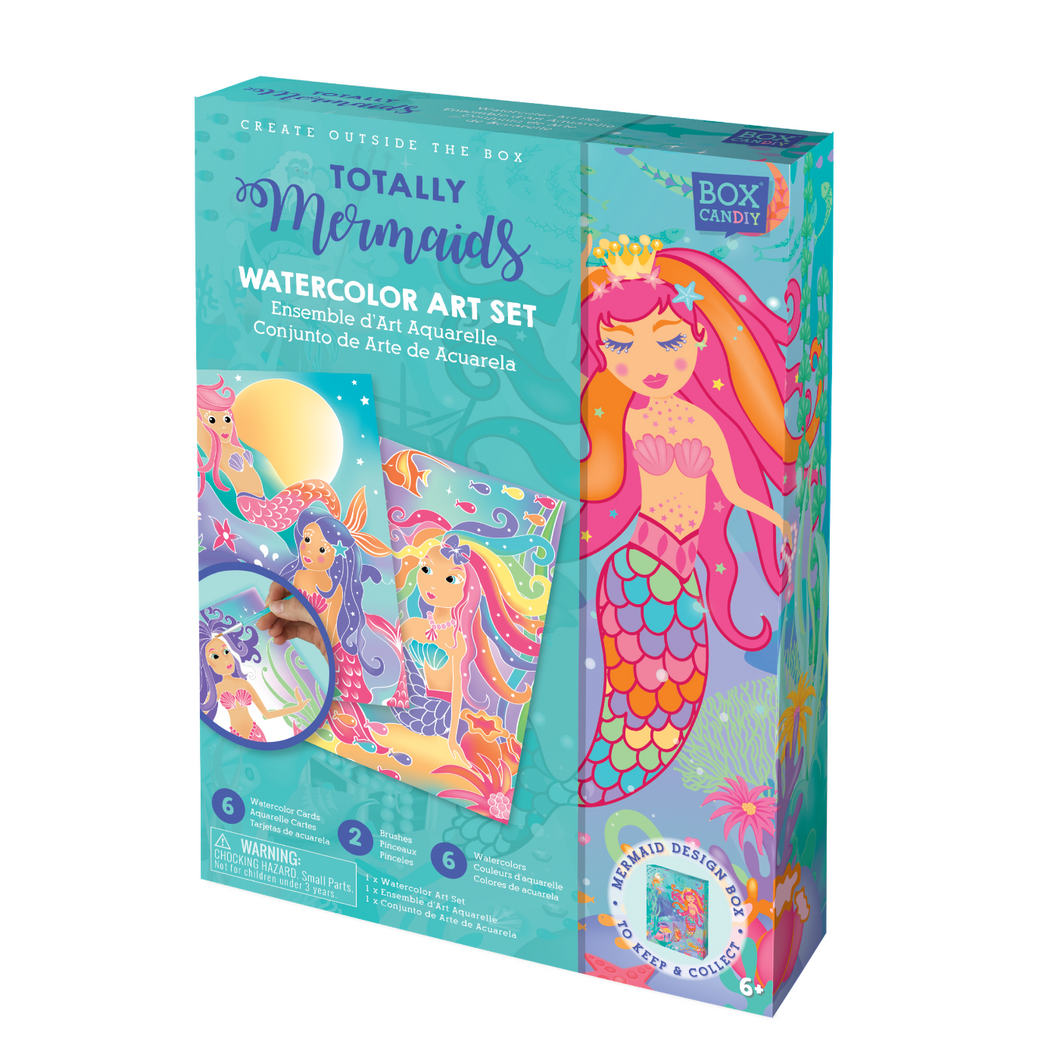 BOX CANDIY® Totally Mermaids Watercolor Art Set