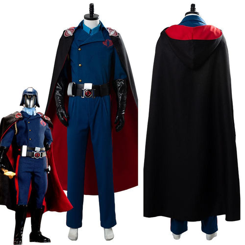G I Joethe Rise Of Cobra Commander Suit Cosplay Costume