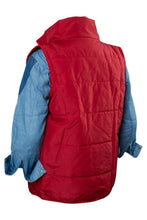 Load image into Gallery viewer, Back To The Future Marty Mcfly Red Waistcoat Cosplay Costume