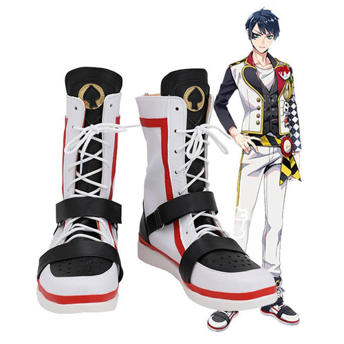 Game Twisted Wonderland Alice In Wonderland Theme Deucc Cosplay Shoes