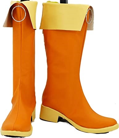 vocaloid cosplay boots shoes orange