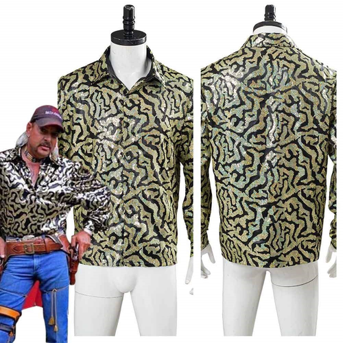 Tiger King Joe Exotic Adult Men Shirt Halloween Carnival Costume Cosplay Costume 1