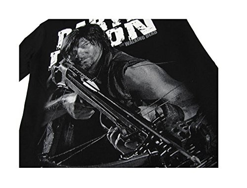 The Walking Dead Daryl Dixon Black T Shirt Short Sleeve Tee