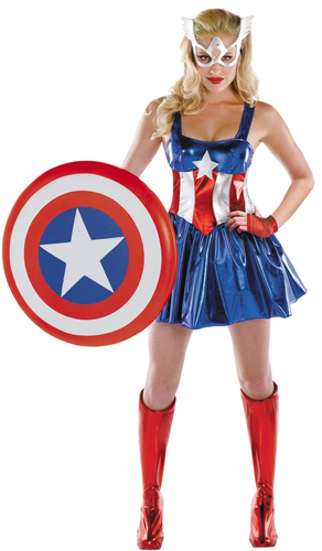 The Avengers Captain America Dress Costume Halloween Cosplay
