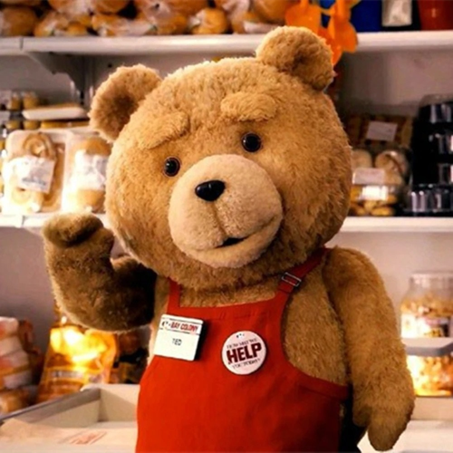 Ted Apron Teddy Bear Plush Toy Cosplay Accessories