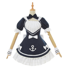 Load image into Gallery viewer, youtuber hololive minato aqua maid dress cosplay costume