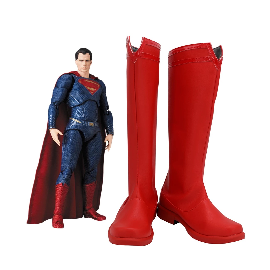 Superman Red Boots Cosplay Shoes