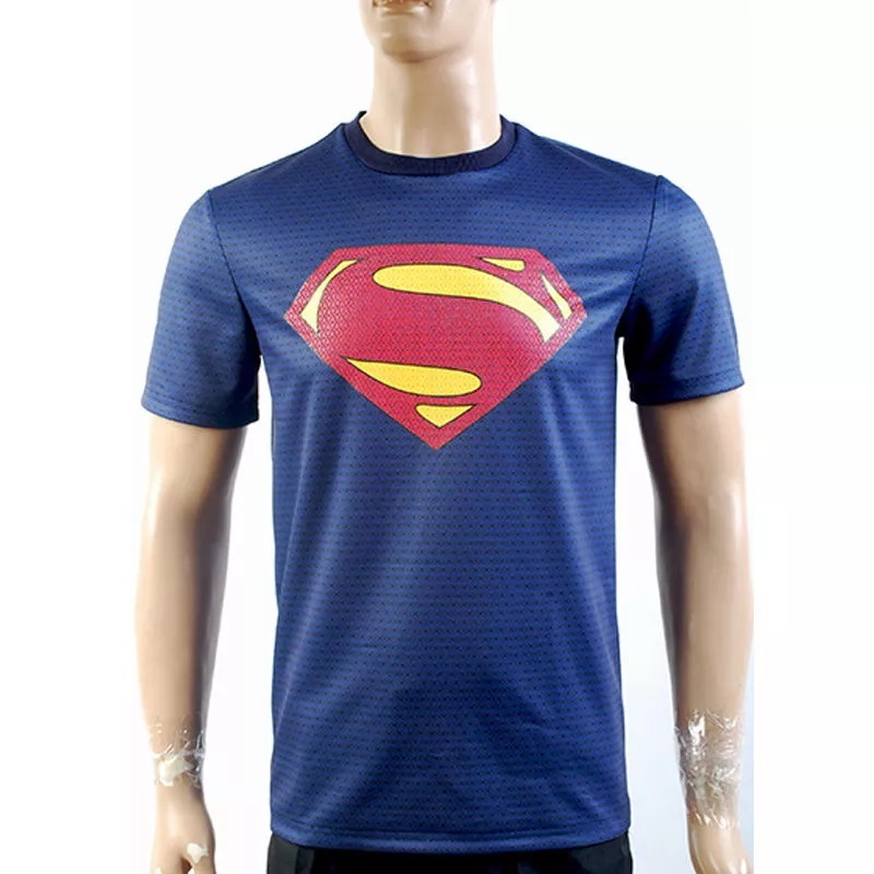 Superman Man Of Steel Superman Blue T Shirt New