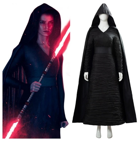 Star Wars The Rise Of Skywalker Dark Side Rey Cosplay Costume