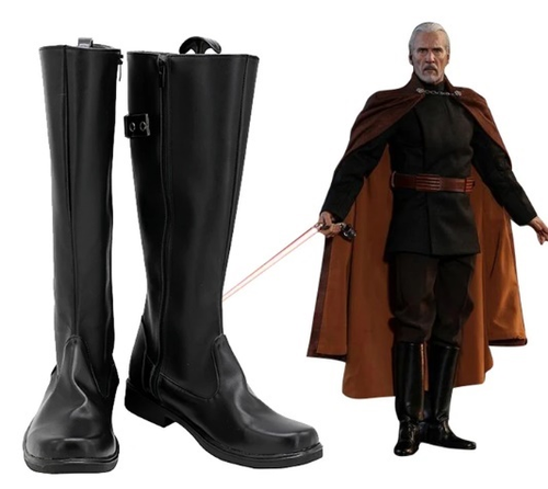 Star Wars Count Dooku Boots Halloween Costumes Accessory Cosplay Shoes