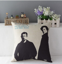 Load image into Gallery viewer, Sherlock Tv Series Sherlock Holmes And John Watson Throw Pillow