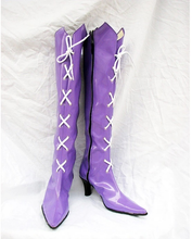 Load image into Gallery viewer, Sailor Moon Tomoe Hotaru Cosplay Boots Shoes Purple