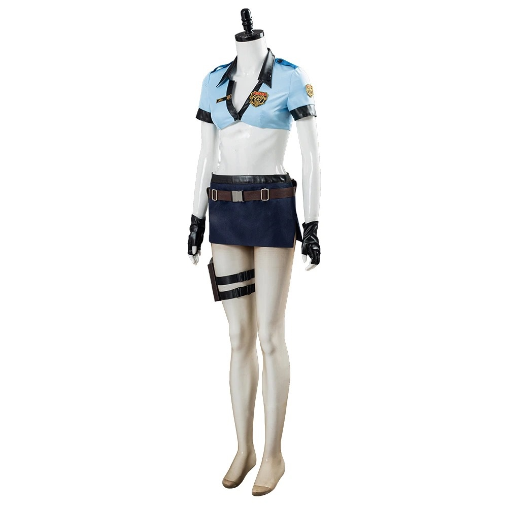 Resident Evil 3 Remake Jill Valentine Halloween Uniform Outfit Halloween Carnival Costume Cosplay Costume