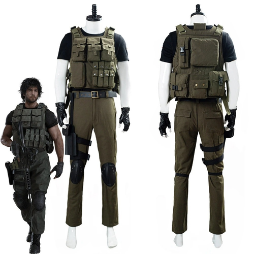 Resident Evil 3 Remake Carlos Oliveira Men Uniform Outfit Halloween Carnival Costume Cosplay Costume
