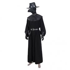 Plague Doctor Steampunk Medieval Adult Uniform Outfit Halloween Carnival Suit Cosplay Costume