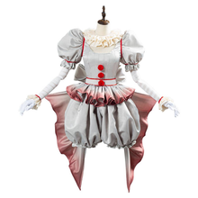 Load image into Gallery viewer, Pennywise Horror Pennywise The Clown Costume Outfit For Women Girls Halloween Carnival Cosplay Costume