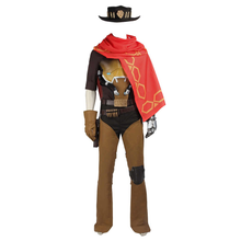 Load image into Gallery viewer, Overwatch Ow Bounty Hunter Jesse Mccree Outfit Cosplay Costume