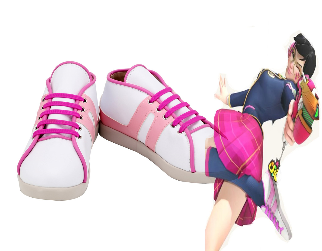 Overwatch Dva Young School Cosplay Shoes