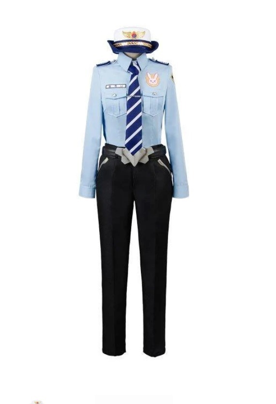 Overwatch D Va Dva Hana Song Police Officer Uniform Cosplay Costume