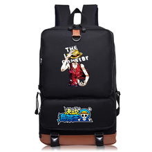 Load image into Gallery viewer, One Piece School Bag Black Backpack