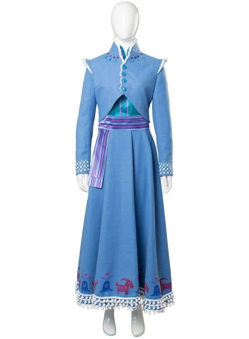 Olafs Frozen Adventure Anna Dress Outfit Cosplay Costume